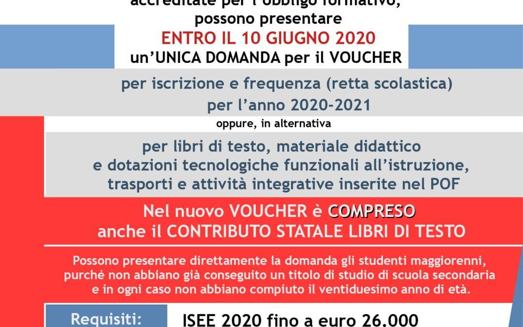 VOUCHER SCUOLA 2020-2021 – PROROGATO IL TERMINE AL 17 GIUGNO