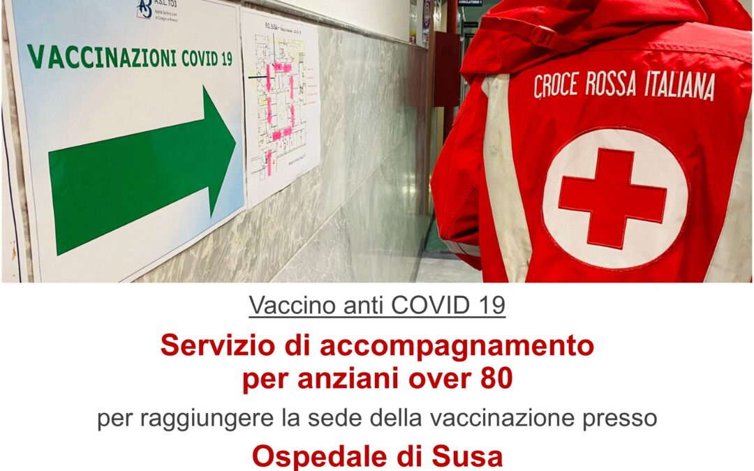 Vaccino anti COVID 19 – Servizio di accompagnamento per anziani over 80